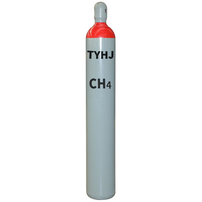 High Purity 99.999% Methane Gas With 200 Bar Pressure In 50 L Cylinder